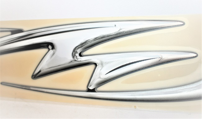 """Century Boats Silver Decal 12/"""" Stickers Pair"""